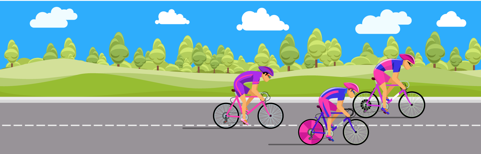Bikers competing to use inbound marketing